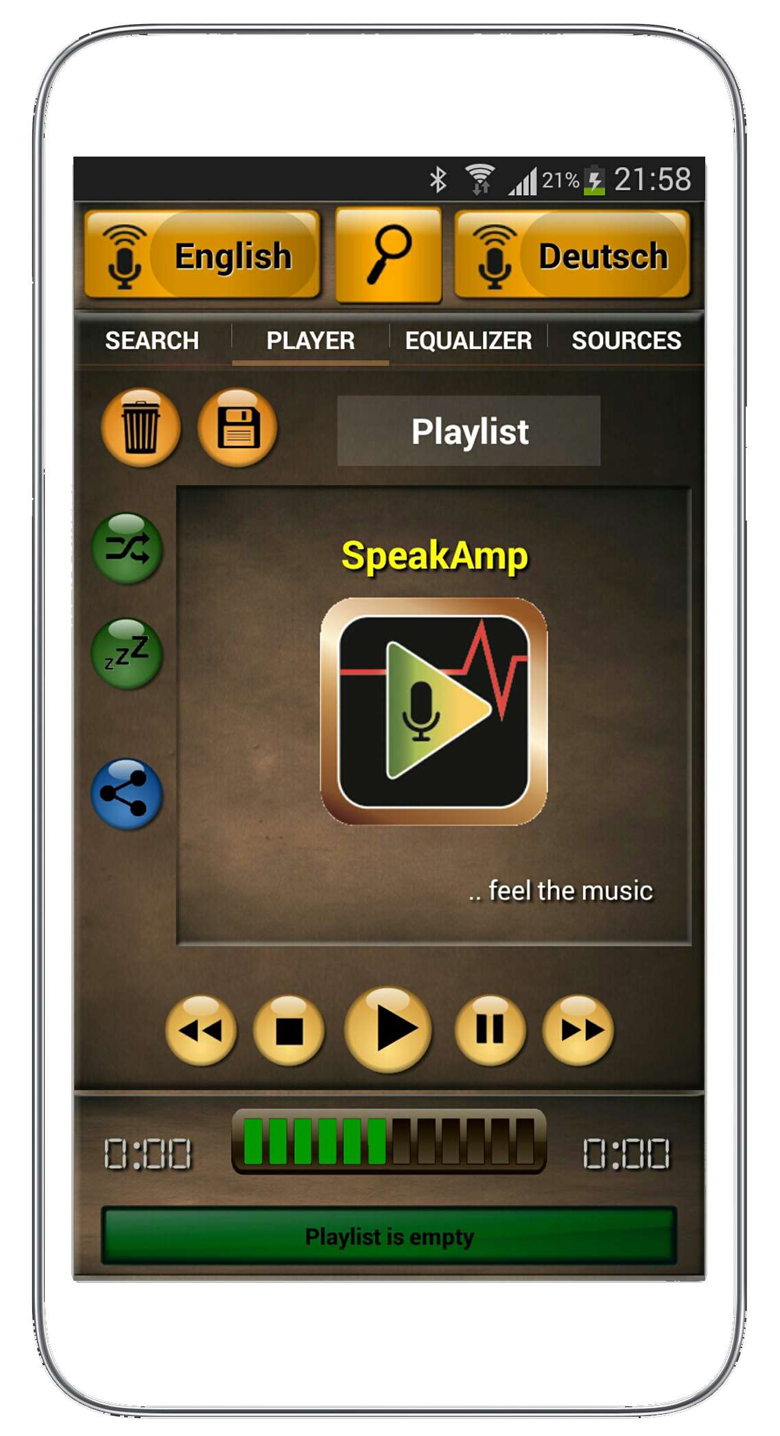 speakamp start